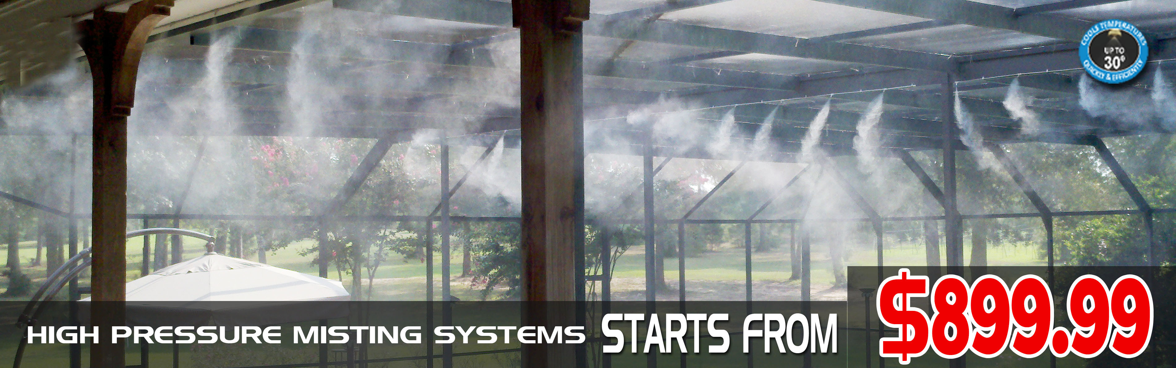 High Pressure Misting System Outdoor Misting System
