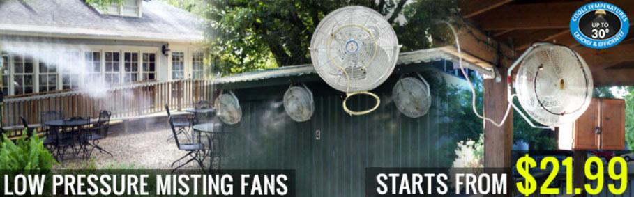 Low Pressure Misting Fans